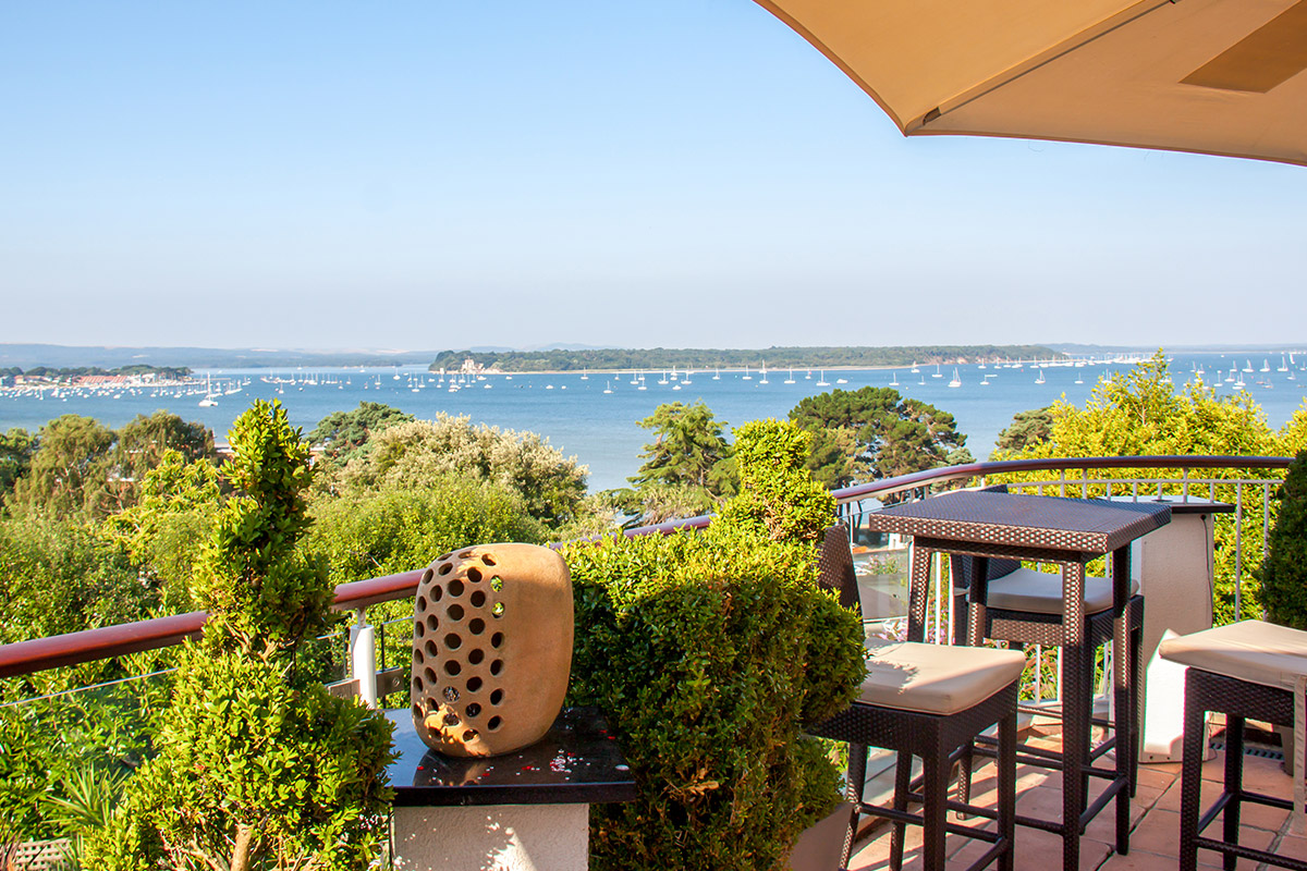 One Night Coastal Break for Two at the 4* Harbour Heights Hotel, Poole