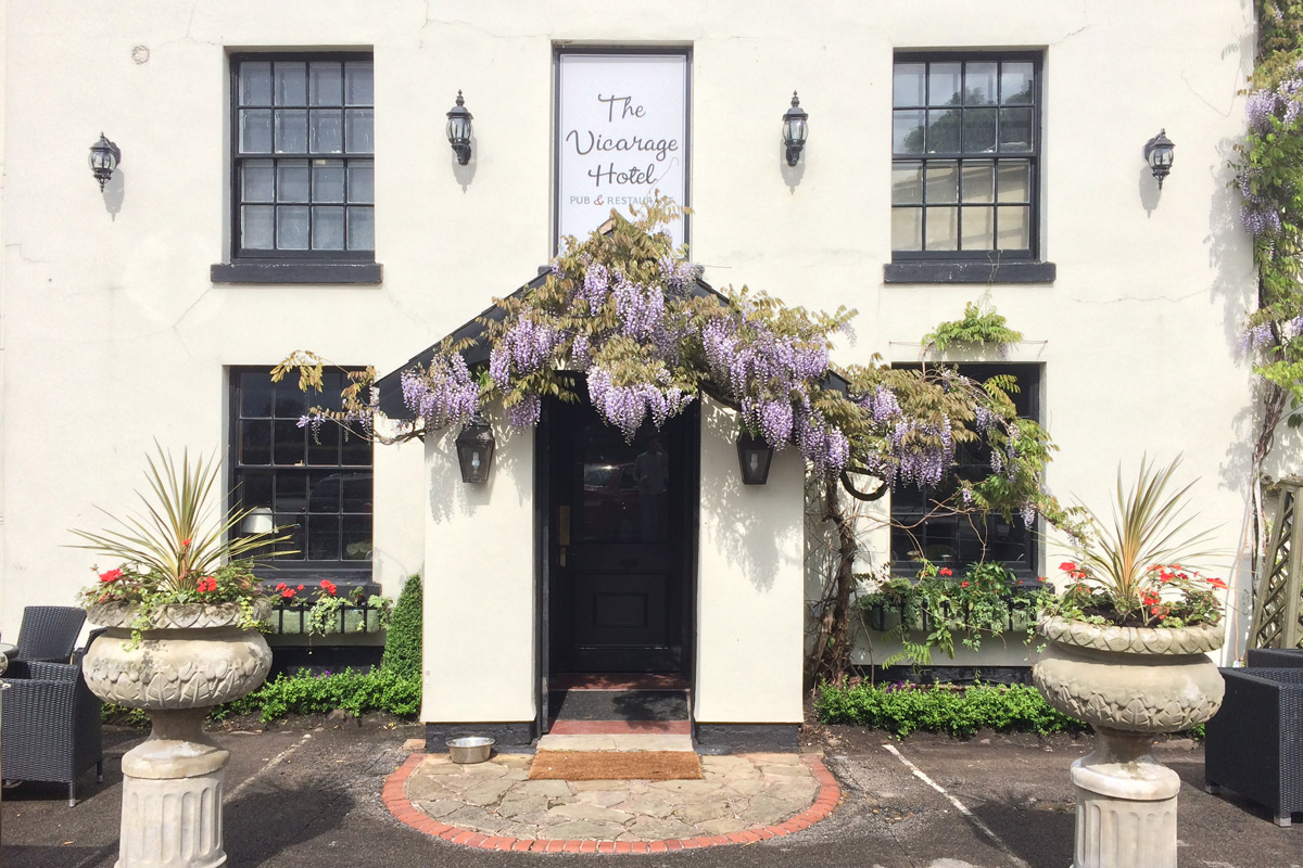 Posh Fish and Chips with a Glass of Fizz for Two at The Vicarage Gastro Pub and Hotel
