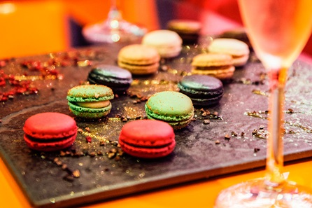 Champagne and Mini Macaroons for Two at Cake Boy