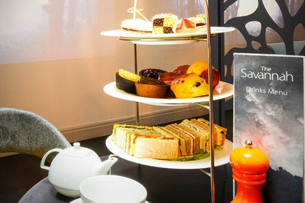 Champagne Afternoon Tea for Two at The Savannah, London