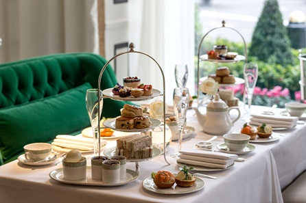 Champagne Afternoon Tea for Two at The Park Room at the Luxury 5* Grosvenor House Hotel