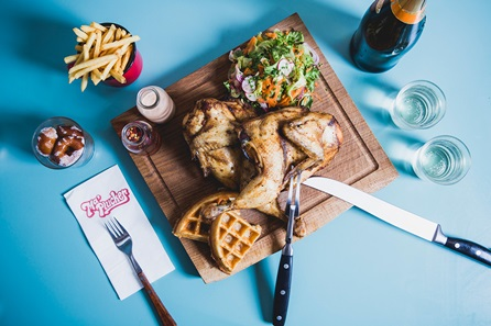 Chicken Brunch with Unlimited Prosecco for Two at Ma Plucker, Soho