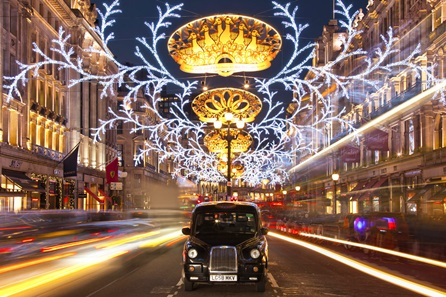 Christmas Lights London by Night Bus Tour for two
