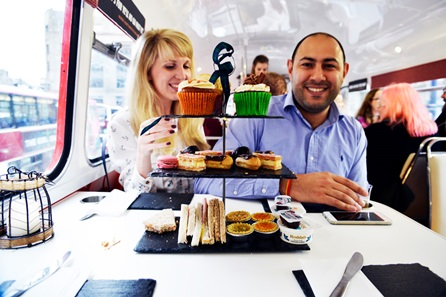 Gin Cocktail Afternoon Tea Vintage Bus Tour for Two