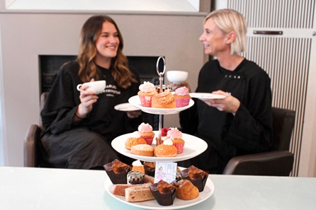Glamorous Blow-Dry, Champagne and Luxury Afternoon Tea for Two at Charles Worthington