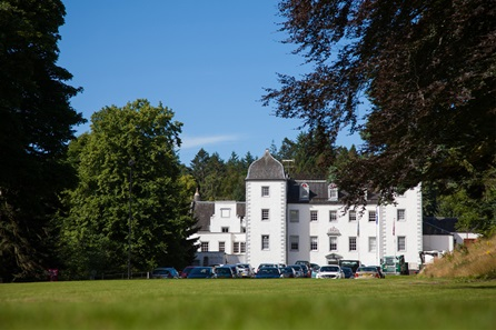 One Night Scottish Break with Dinner and Wine for Two at Barony Castle Hotel