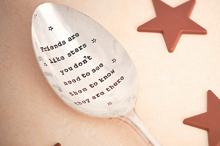 Serving Spoon – Friends are like Stars ...