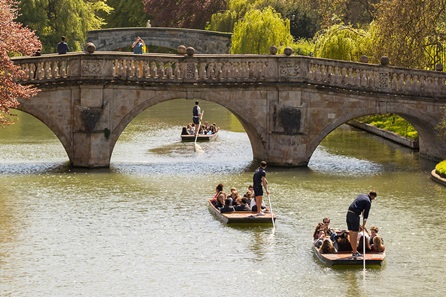 Sights of Cambridge One Night Break with Dinner and 	Chauffeured Cambridge Punting Tour for Two