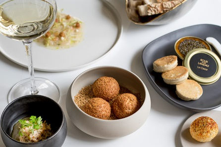 Six Course Tasting Menu with a Welcome Aperitif for Two at The Landau, by Michel Roux Jr