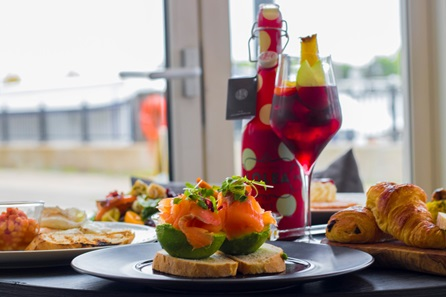 Thames Riverside Three Course Meal with Wine for Two at View 94