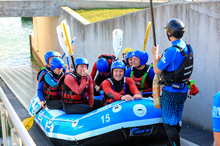 White water rafting on Olympic course with Olympic Champion Tim Ballie