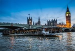 Bateaux London Three Course Thames Dinner Cruise with Wine for Two